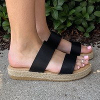 Beach Babe Sandals- Black