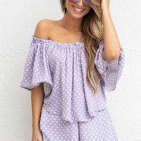 Summer Skies Lilac Top & Short Set