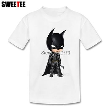 Batman Dark Knight gift Christmas T Shirt kid Pure Cotton toddler batman Round Neck baby Tshirt children's infant Costume superhero 2018 T-shirt For boy girl AT_71_6