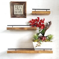 Floating Shelf, Flush Mount Shelving, Picture Ledge, Ledge Shelf, Photo Shelf, Wood Shelves, Wood Floating Shelf, Wall Shelf, Rustic Shelves