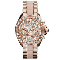 Michael Kors Crystal Glitz Wren Rose Gold Watch