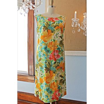 Vintage Floral Fusion  Blooming Dress