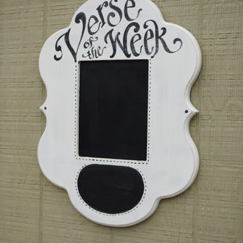 Verse of the Week Chalkboard Claire Frame
