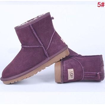 """UGG"" Winter Fashionable Women Ankle Warm Wool Snow Boots 5# I/A"
