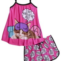 Sleeping Kitty Pajama Set