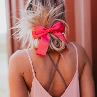 Social Butterfly Hair Bow - Fuchsia