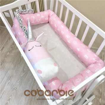 200cm-400cm Cotton Baby Crib Bumpers  new animal doll Pillow Cushion,Nursery bedding,cot room dector,Unicorn, zebra, cow