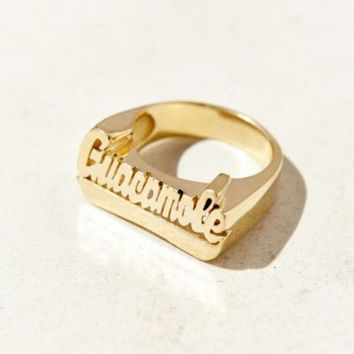 GroundscoreNYC Guacamole Ring- Gold