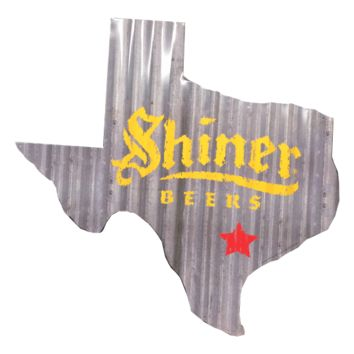 Corrugated Texas Shiner Sign