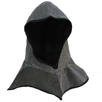 Medieval Crusader Knight Helmet Chainmail Coif Costume