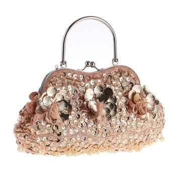 Charming Dinner Bag Vintage Handmade Beading Embroidery Women Evening Bags Exquisite Girl Lady Wedding Party Clutches Handbag