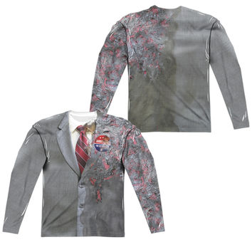 Two Face Dark Knight Movie Mens Long Sleeve Costume T-Shirt
