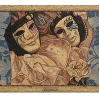 Venice Carnival Tapestry Wall Hanging