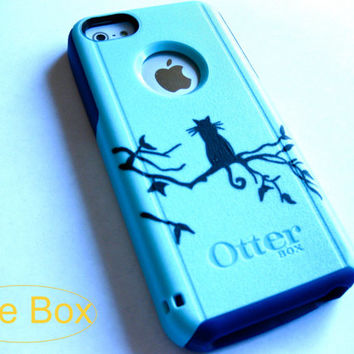 Otterbox iphone 6 case, Iphone 6 case, Glitter case, Iphone cover, custom otterbox iphone 6, gift, cat iphone 6 case
