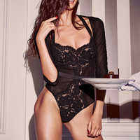 Lace & Mesh Teddy - Very Sexy - Victoria's Secret