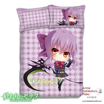 New Shinoa Hiragi - Seraph of the End Japanese Anime Bed Blanket or Duvet Cover with Pillow Covers ADP-CP151234b