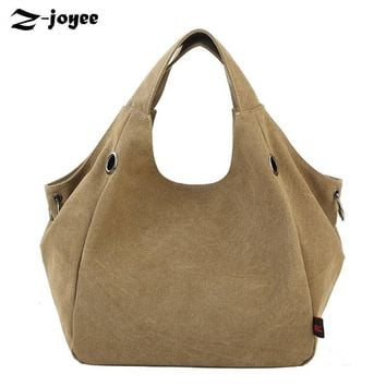 High Quality Canvas Women Handbag Designer Casual Large Capacity Hobos Bag Hot Female Tote Solid Candy Color Shoulder Bag Bolsas