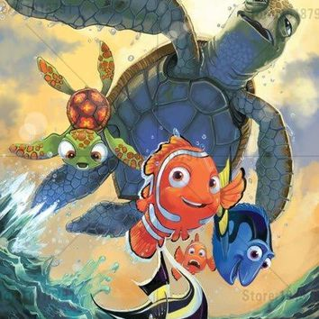 5D Diamond Painting Finding Nemo with Dory & Crush Kit