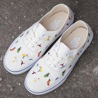 Vans Embroidery Bird Canvas Old Skool Flats Sneakers Sport Shoes-2
