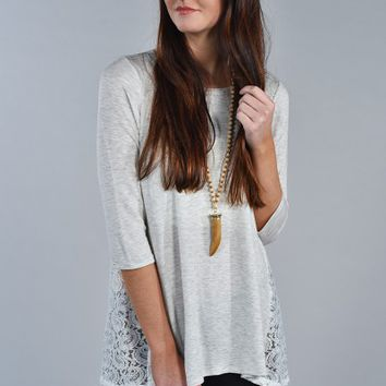 Side of Lace Top