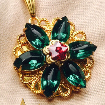 Anastasia Together in Paris Necklace Cubic Zirconia Crystals Peridot Green Handmade Replica Cosplay