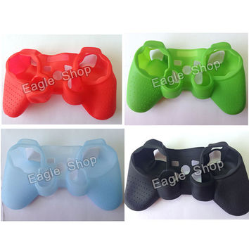 10 Colors Silicone Case Protective Skin Cover Wrap Case for PS3 Controller Joystick Gel Rubber Free Shipping