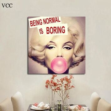 Marilyn Monroe Paintings Wall Art Canvas Painting Wall Pictures For Living Room Quadros Home Decor Cuadros Decoration Unframed