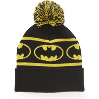 Batman Pom Beanie Black/Yellow One