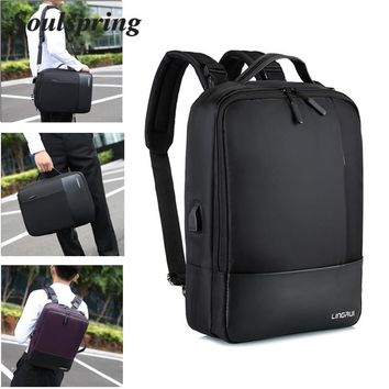 Anti Theft Laptop Backpack With USB Charge Universal 15.6 Inch