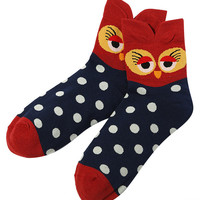 Owl Print Cold-proof Socks
