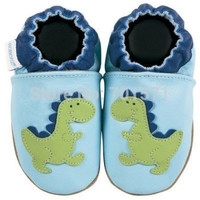 soft soled Genuine Leather baby shoes baby shoes