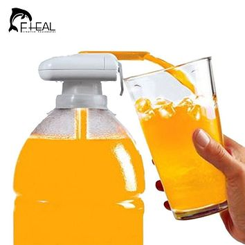 FHEAL Novelty Electric Automatic Juice Cocktail Water Dispenser Drinking Straw Fruit Vegetable Automatic Beverage Suck