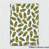 Pineapple Pattern in White and Pink iPad Mini 1 / iPad Air 1 Tablet Clip on Case Cover