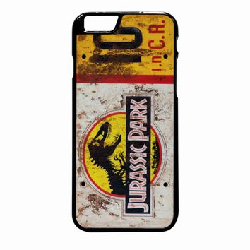 Jurassic Park Jeep License Plate 10 iPhone 6 Plus case