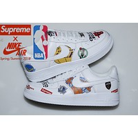 Nike Air Force1 x Supreme x NBA FASHION MEN WOMEN LOW TOP SNEAKER