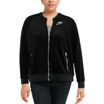 Nike Plus Womens Velour Fitness Track Jacket
