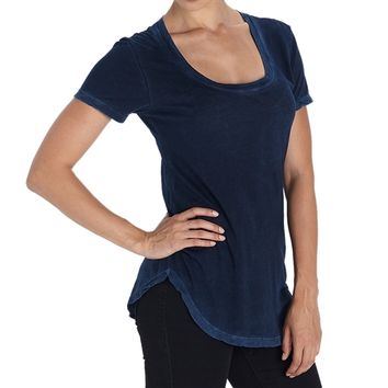 Cotton Citizen Womens - Mykonos Scoop Tee - Navy