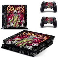 Carnifex Death metal design decal for ps4 console sticker