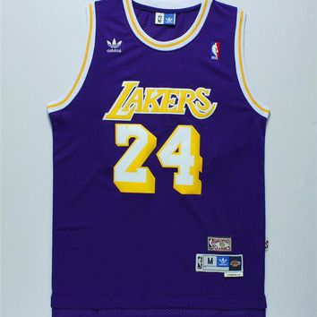 Kobe Bryant Los Angeles Lakers NBA Jersey Men L Nwt New Sewn Adidas Purple #24