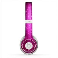 The Abstract Pink Neon Rain Curtain Skin for the Beats by Dre Solo 2 Headphones