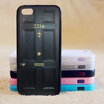 221B,Shelock,Custom Case, iPhone 4/4s/5/5s/5C, Samsung Galaxy S2/S3/S4/S5/Note 2/3, Htc One S/M7/M8, Moto G/X