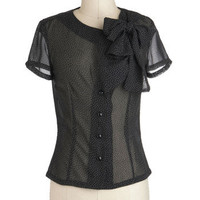 Bettie Page You Dot the Love Top | Mod Retro Vintage Short Sleeve Shirts | ModCloth.com