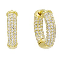 Pave Small Hoop Earring