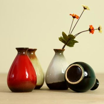 Zakka grocery with Japanese style retro ceramic Rural Small Vase Decoration Home Furnishing hydroponic container