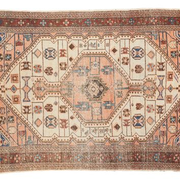 4.5x6.5 Vintage Distressed Malayer Rug