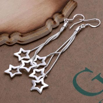Star Dangle Drop Earrings