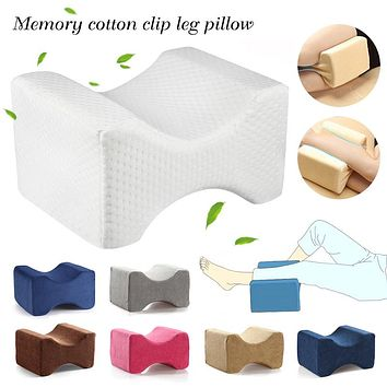 Best Seller Memory Foam Knee Wedge Pillow for Sleeping Back Hip Joint Pain Relief