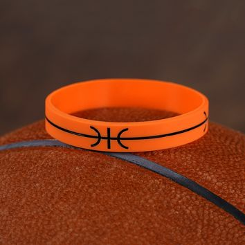 Basketball Line Motivational Wristband