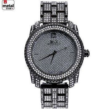 Jewelry Kay style Men's Fashion Stainless Steel Back Iced Out Heavy Metal Band Watches WM 1078 HE