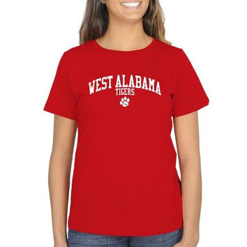 University of West Alabama Ladies Team Arch Classic Fit T-Shirt - Red